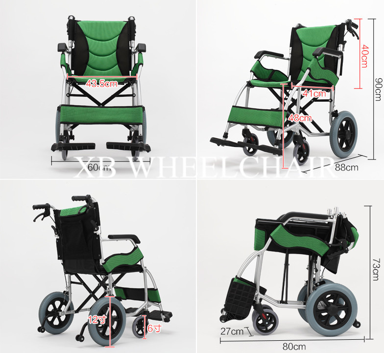 2017 Beat sell Lightweight folding manual wheelchair for sale
