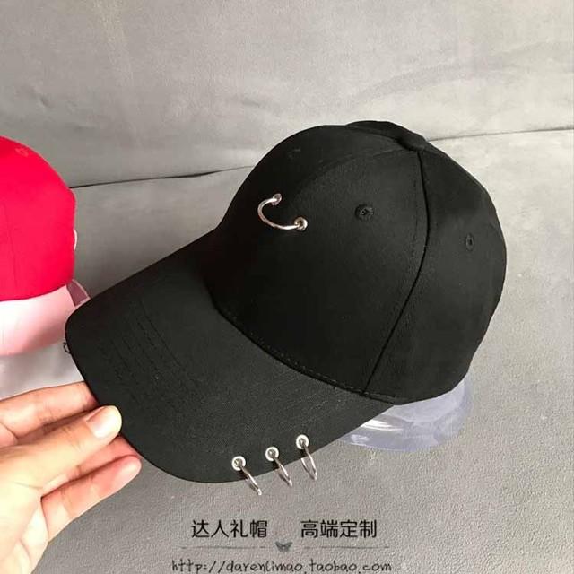Anel de Metal Boné de Beisebol do Chapéu chapéu casal para homens e mulheres