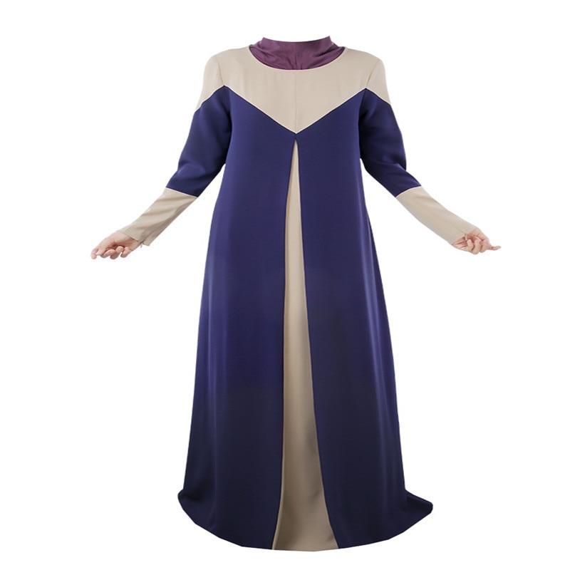 Halloween Muslim Dress Long Sleeve Maxi Women Slim Dress Kaftan Abaya Jilbab Islamic Muslim Party Vestidos W6