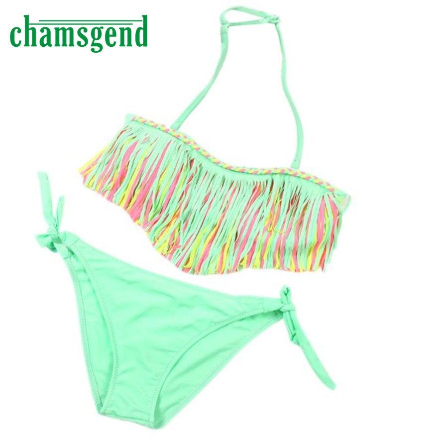 Kids bikini 2017 biquini Baby Girls Swimwear Kids bathing suit sets Swimsuit Bikini Set children bikinis Two-Piece suits Dec13