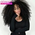 Queen Brasileño Rizado rizado Pelo de la Virgen 3 Unids Lot Afro Kinky Curly Hair Bundles Trato Brasileño Enrollamiento Jerry Del Pelo Humano extensión