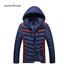 2017 Autumn Winter Fashion Hood Padded Quilted Headset Men Jacket Coat Warm Male Jackets Parka Hooded Casual Wadded Outerwear