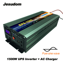 1500Watts/1.5KW UPS power supply LCD pure sine wave Inverter Surge Power 3000W DC12/24/48V to AC220/230/240V with AC charger