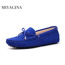 Spring Summer Top brand women Moccasins Shoes Genuine Leather women Flat Shoes Casual Loafers Slip On Driving shoes(China)