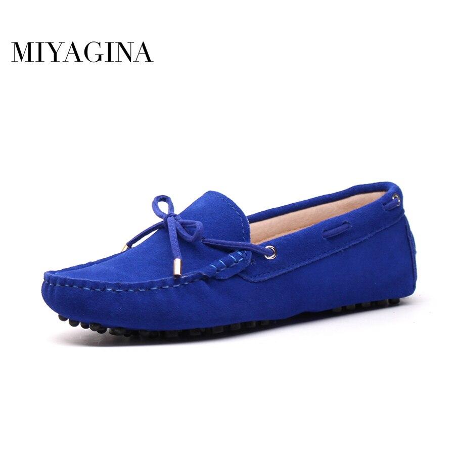 Spring Summer Top brand font b women b font Moccasins Shoes Genuine Leather font b women
