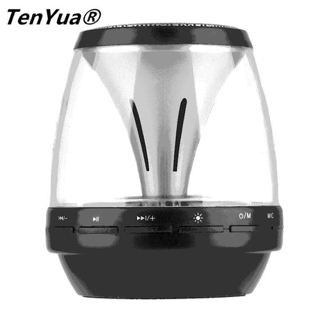 TenYua Mini Bluetooth Speakers Wireless with LED Lights 4 Mode Lighting Handfree Stereo Super Bass Loudspeaker Support TF Card Islamabad