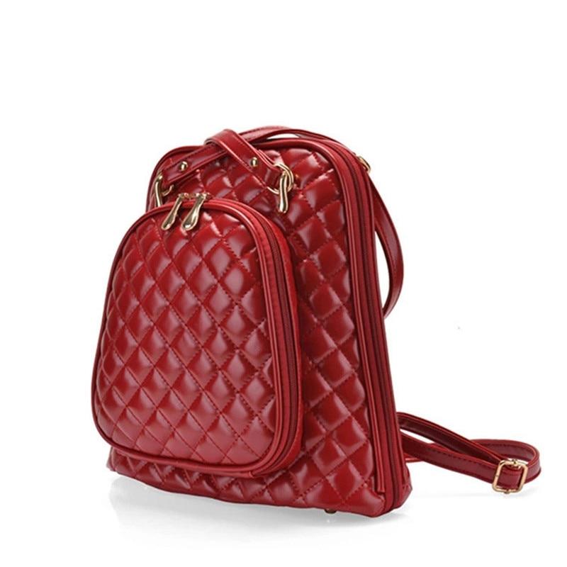 2017 Mochilas Double Pocket Large Capacity Lady Backpack Shoulder Bag Multi purpose Grid Pattern Tourism Shopping