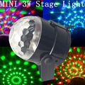 High Quality 2016 Fashion mini RGB 3W LED Projector Effect Stage Lights Dance Disco Ball Bar Party DJ Christmas Stage Light