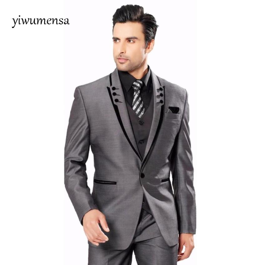 trajes-de-hombre-wedding-suits-for-men-Custom-made-Plus-size-Three-Pieces-Black-Coat-with