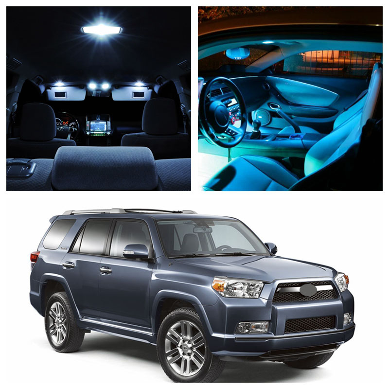 14Pcs Ice Blue Bulbs White LED Lights Interior Package Kit For 2003-<font><b>2015</b></font> <font><b>Toyota</b></font> <font><b>4Runner</b></font> Map License Plate Light <font><b>Toyota</b></font>-EF-24 image