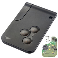 3 Buttons 433MHZ Smart Key Fob Shell Case Card For Renault Megane With PCF7947 Chip 1pc