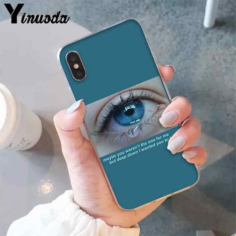 Yinuoda estética grande arte triste menina bonita olhos Caixa Do Telefone para iPhone6S 6 além de 7 7plus 8 8Plus X XsMAX 5 5S XR 11 11pro 11promax
