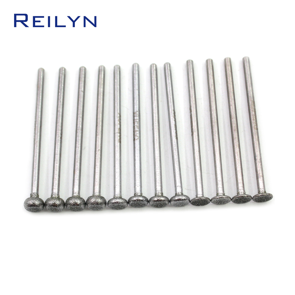 6 PCS Super Good Round Angle Cylinder Bit Grit 150#boron Carbide Diamond Grinding Burr Teeth Grinding Bits Polishing Bits