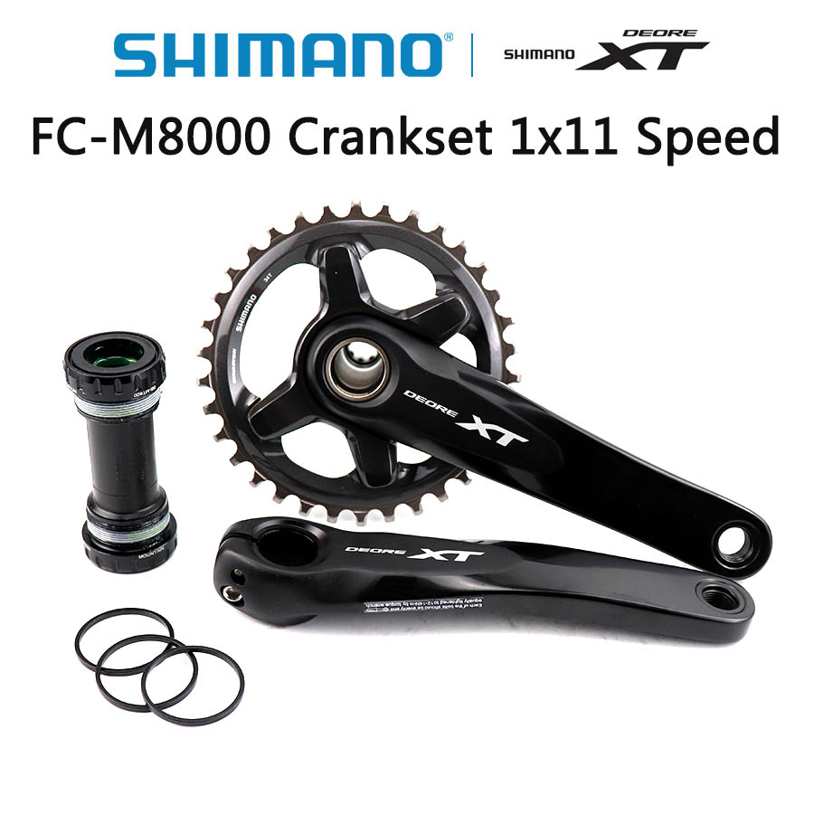 SHIMANO DEORE XT FC M8000 HOLLOWTECH II Crankset M8000 Crankset 1x11 Speed 34T 170MM 175MM Mountain Bikes accessories