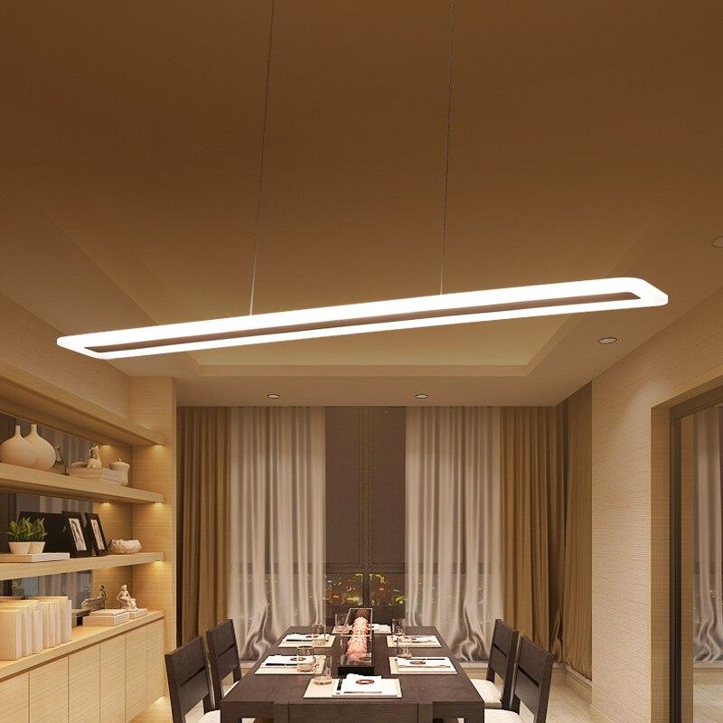 L400 1200mm Various sizes Modern LED Chandelier light for dinning Kitchen room hanging suspension luminaire chandelier AC85 265V in Chandeliers from Lights Lighting