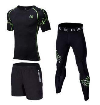 3 Pieces Mens Sports Suits Quick Dry Sets