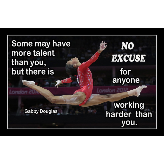 floor gymnastics gabby. J0310- New Gabby Douglas American Gymnastics Motivational Quotes Pop 14x21 24x36 Inches Silk Art Poster Floor I