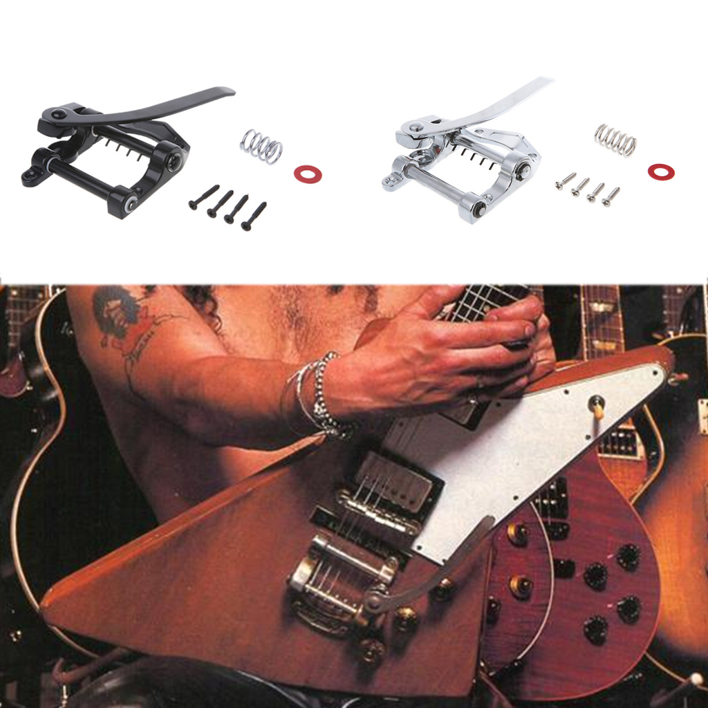 metal guitar vibrato bridge with screws guitar tremolo bar bridge tailpiece for electric guitar. Black Bedroom Furniture Sets. Home Design Ideas