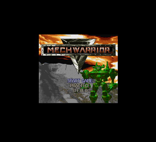 Mechwarrior 16 Bit Big Gray Game Card For NTSC USA Game Console
