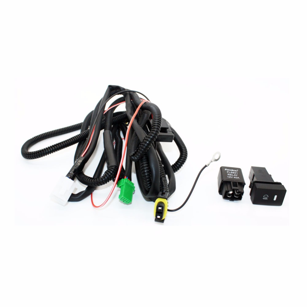 Set Wiring Harness Sockets Wire Switch For H11 Fog Light Lamp Ford Focus 2008
