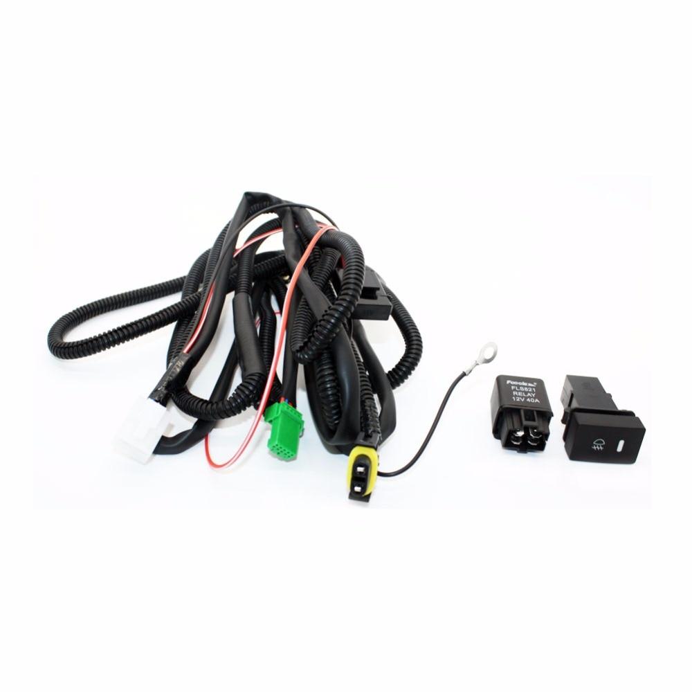 set wiring harness sockets wire switch for h11 fog light. Black Bedroom Furniture Sets. Home Design Ideas