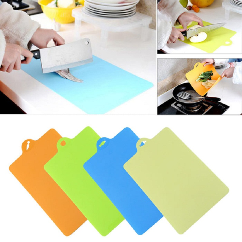 Mosunx Business Kitchenware Bendable 4Pcs Set Anti microbial Durable Chopping Board Set Cuttin drop shipping