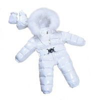 Baby Snowsuits Hooded Jumpsuit White Duck Down Jackets For Boys Girls Winter Snow Coats Kids Clothes