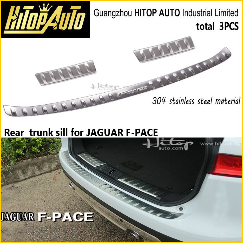 rear bumper sill,rer trunk cover,skid plate cover for for F-PACE,XE,XF.304 stainless steel,free shipping to Asia,2015 2016 2017