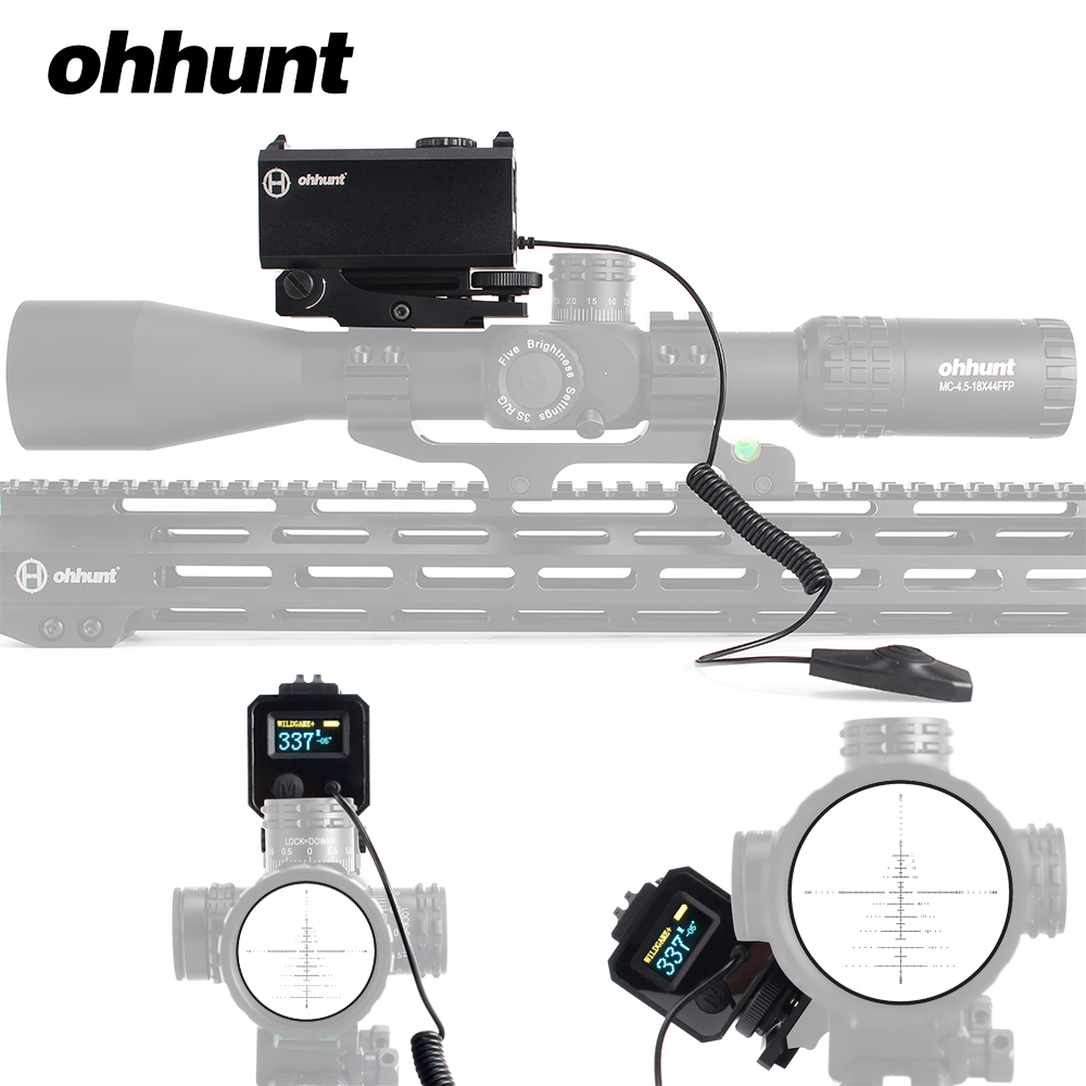 Ohhunt 5-700 m Mini telémetros láser táctico caza Rifle alcance vista con Picatinny Weaver Rail Mount Color OLED pantalla