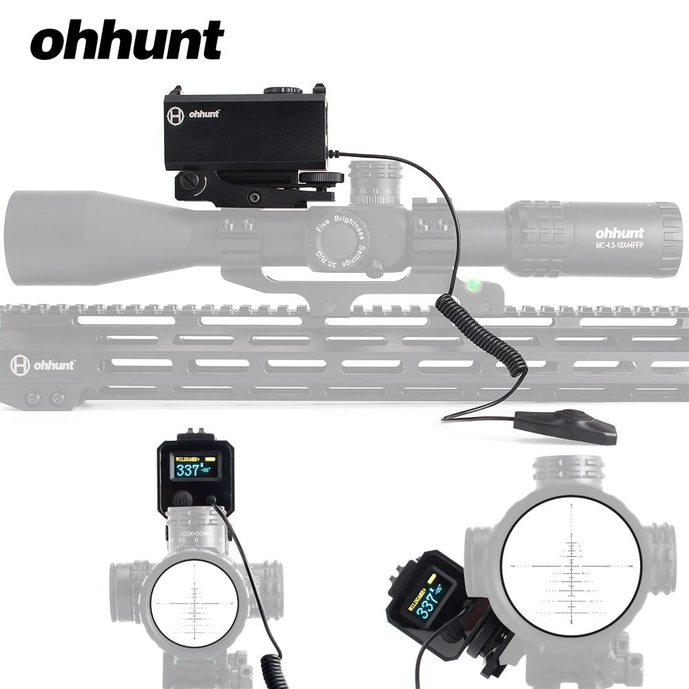 Ohhunt 5-700 M Mini Laser Telemetri Tattica Del Fucile di Caccia Scope Sight con Picatinny Del Tessitore Montaggio su guida A Colori OLED Display