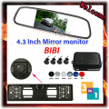 Hot Selling Car Parking Sensors Backup Radar Rear System + 4.3'' LCD Digital Display & EU License Plate Frame Rear View Camera