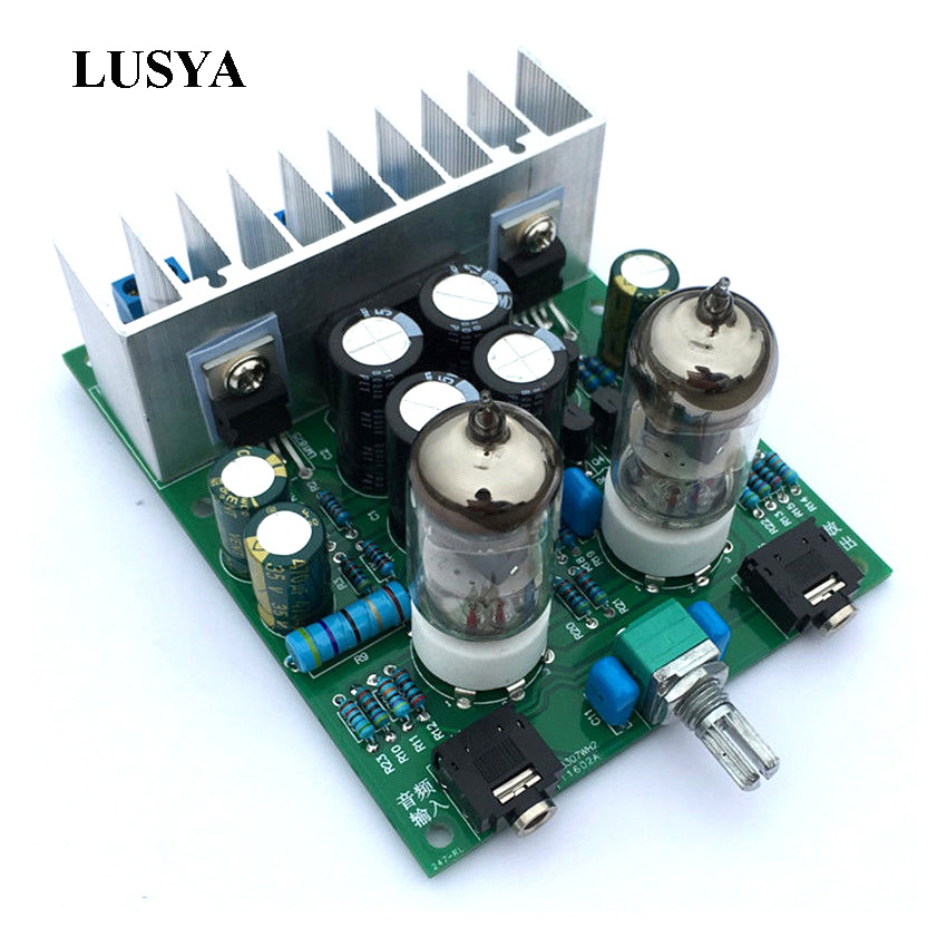 Lusya HIFI 6J1 tube amplifier audio board LM1875T power amplifier Board 30W preamp bile buffer DIY kitsfinished E5-004