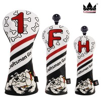 Craftsman Golf Wood Head Covers Headcover Bull Gog Driver / Fairway / Hybrid Driver FW UT Headcovers Free Shipping