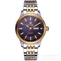 2018 Hk Reginald Brand Mens Watches Luxury Quartz Waterproof Stainless Steel Strap Auto Date Male Clock