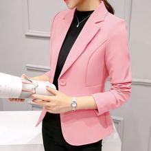 2019 женский Повседневное костюм офисные Твердые Slim Fit Blazer Для женщин Зубчатый Формальные рабочая куртка Дизайн Черный Серый Блейзер высокого качества