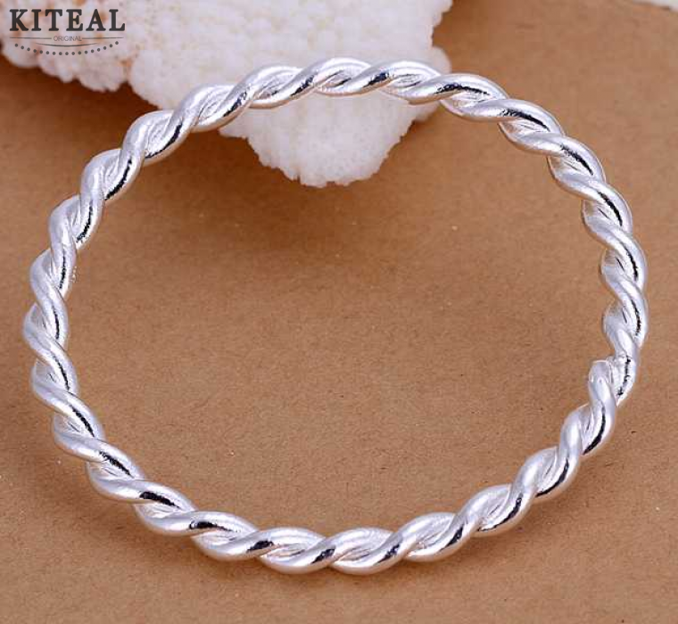 hot sell 925 sterling silver jewelry bangle fine fashion bracelet bangle top quality wholesale and retail SMTB148