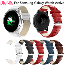 купить 20mm Classic leather replace strap For Samsung Galaxy Watch Active bracelet for Samsung Gear S2 wristband accessories watchband по цене 222.75 рублей