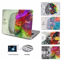 YCSTICKER-Laptop Vinyl Aufkleber Links Rechts Gehirn Malerei Haut für neue Macbook Air Pro Retina Touch Bar 11 12 13 15 Aufkleber