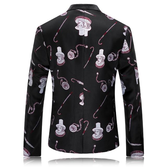 Blazer Men Fashion Printed Mens Blazers New Arrivals 2016 British Style Fancy Jackets Floral Suit Party Prom Wedding Dress Q218