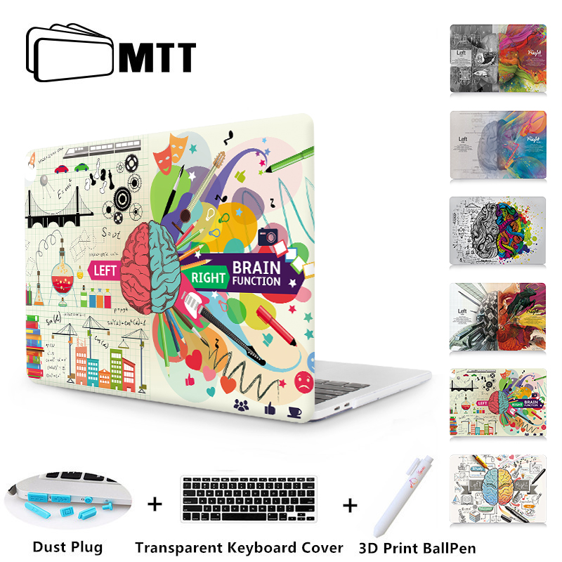 MTT Left&Right Brain Case For Apple Macbook Air 11 13 Pro Retina 13 15 With Touch Bar New 12 inch Laptop Sleeve + Keyboard Cover