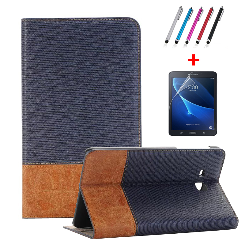 2016 high quality Patchwork PU leather case for samsung galaxy tab A6 7'' T280 T285 SM-T280 SM-T285 cover case +film+ Stylus Pen аксессуар чехол it baggage for samsung galaxy tab a 7 sm t285 sm t280 иск кожа red itssgta70 3