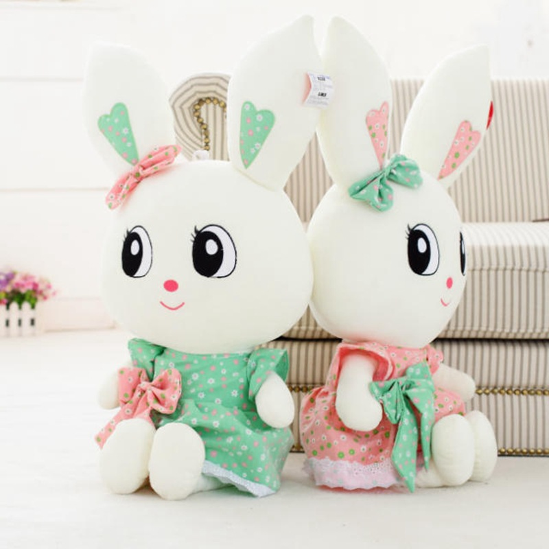 Animals Toys Color : Rabbit plush toys doll kids gifts color bunny stuffed