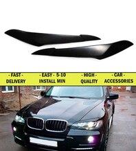 Реснички брови чехол для BMW X5 E70 2007-2013 широкий стиль ABS пластик молдинги свет дизайн интерьера свет Тюнинг автомобилей украшения