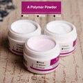 1 PCS faísca Claro Transparente Rosa Opção Três Cores Acrílico Pó de Cristal Prego Dicas Polymer Builder Nail Art polímero Em Pó