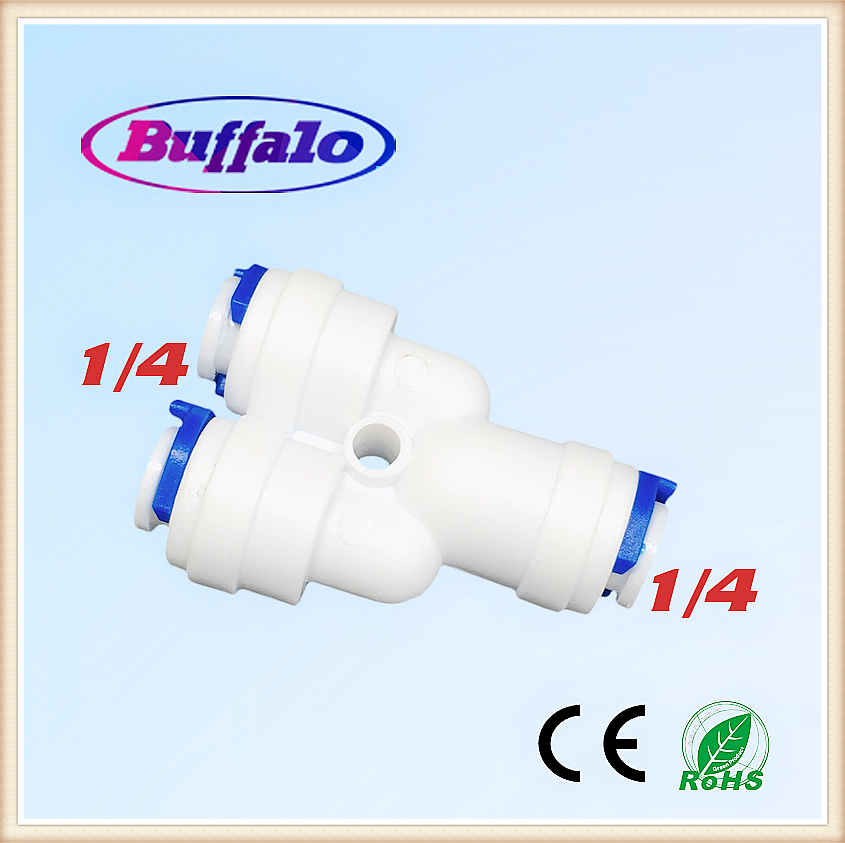100PCS 1/4 OD Y Type Tee 3 Way Tube Quick Connect Push Fit RO Water Reverse Osmosis System to Connector Water Tube Fitting ro fitting 1 4 push in 1 2 npt