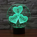The New I LOVE YOU Colorful 3D Visual Night Light Touch LED Gradient Mood Lamp Holiday Christmas Birthday Valentine's Day Gift