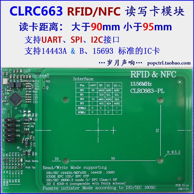 Clrc663 Module Rfid/nfc Read And Write Module Development Board Network Cards