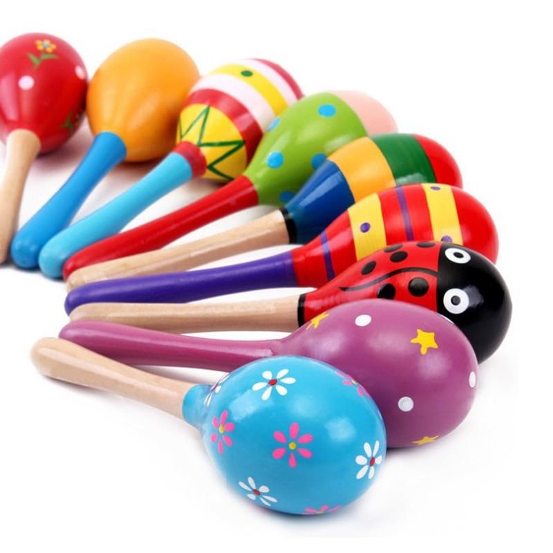 5 stks Baby Speelgoed Muziekinstrumenten Houtrammelaars Speelgoed - Speelgoed voor kinderen - Foto 6