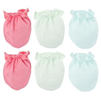 Kavkas 3 Pairs Fashion Baby Anti Scratching rękawice ochrona dla noworodków twarz bawełna Scratch Mittens Girls Boys Product tanie i dobre opinie Dla dzieci Rękawiczki COTTON Unisex 100 Cotton baby gloves Stałe 10*7cm