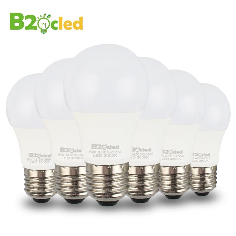 6pcs/lot Led Bulb Lamp E27 3w 5w 110V 220V 85-265V Cold White/Warm White Light Bulb Smart IC Real Power Lampada Bombillas LED 5pcs e27 led bulb 2w 4w 6w vintage cold white warm white edison lamp g45 led filament decorative bulb ac 220v 240v
